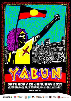 Poster for the 2019 Yabun event.