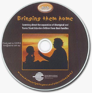 DVD: Bringing Them Home, showing a mum talking to her kid.