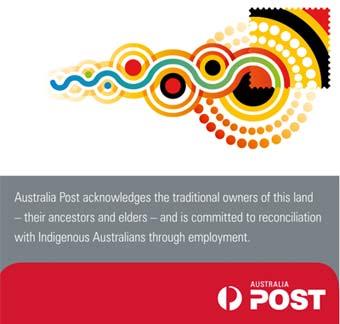 Australia Post sign.